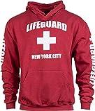 NYC Lifeguard | Red New York City NY Hoody Sweatshirt Hoodie Sweater Men Women -...
