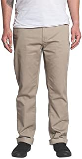 KR3W Klassic Straight Fit Chino Pants Dark Khaki Size 34 Krew Classic