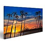 bilderfelix® Bild auf Leinwand Santa Monica Kalifornien