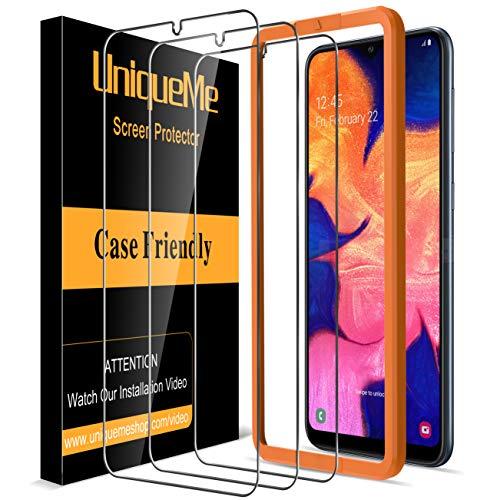 UniqueMe [3 Pack] Protector de Pantalla para Samsung Galaxy A10, Vidrio Templado [ 9H Dureza ] [Sin Burbujas] HD Film Cristal Templado para Samsung Galaxy A10 con Garantía de Reemplazo de por Vida
