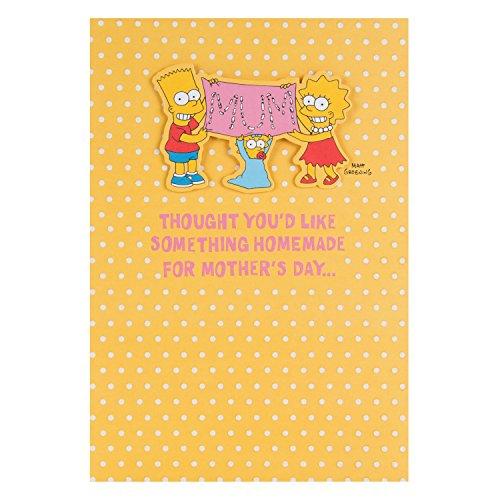 Hallmark Geburtstagskarte The Simpsons zum Muttertag, mit Marge, Größe: M, evtl. nicht in deutscher Sprache