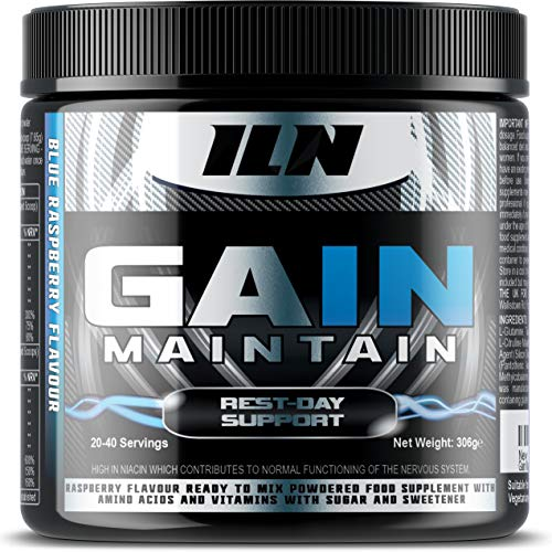 Gain Maintain - The Supplement for Rest Days and Off Days - Essential nutrients and Amino acids with creatine - 306 Grams (up to 40 Servings)