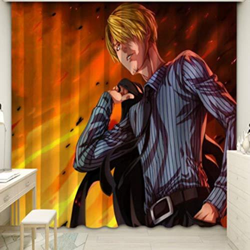 Rideau Chambre Étude Chambre D'Enfants Baie Vitrée Fenêtre Française Moderne Minimaliste Créatif Nordique Décoration De La Maison Dessin Animé Animation Luffy