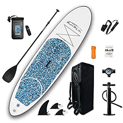 "FEATH-R-LITE Inflatable 10'×30""×6"" Ultra-Light (17.6lbs) SUP for All Skill Levels Everything Included with Stand Up Paddle Board, Adj Paddle, Pump, ISUP Travel Backpack, Leash, Waterproof Bag"