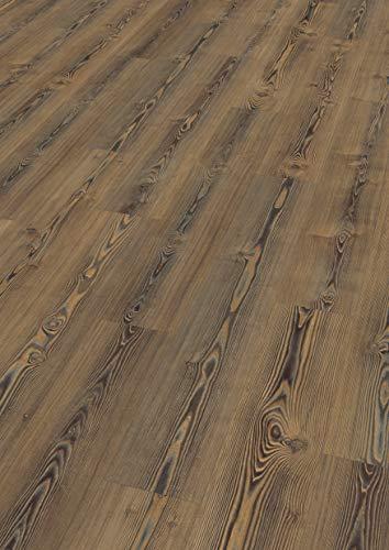 EGGER EHD019 Designboden GreenTec-Onno Pinie natur (7,5mm kompakt 1,99 m²) Design-extrem robust, strapazierfähig, pflegeleicht, wasserfest und PVC frei, braun