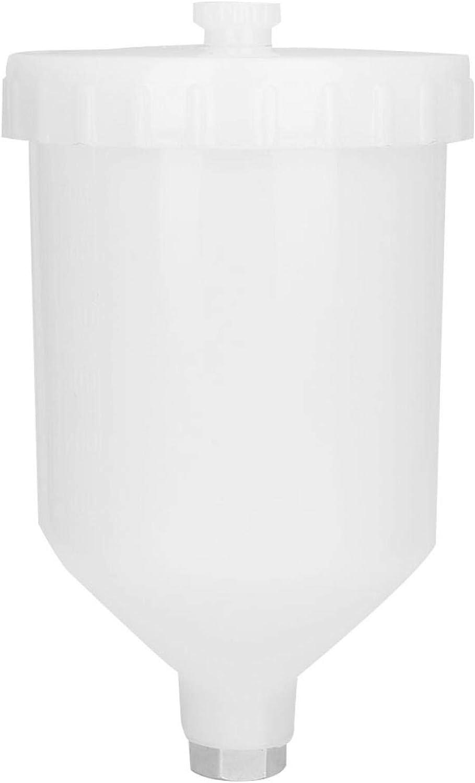 LANTRO JS - Recipiente de plástico para Pistola pulverizadora de 600 ml con Conector roscado de Acero Inoxidable, pulverizador de Pintura, fácil instalación