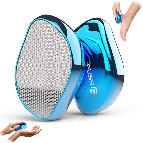 Mr. Fuss® Nano Glas Hornhautentferner Feile - Hornhautentfernung Nass & Trocken - Hornhautfeile für samtweiche Babyfüße sicher & schnell