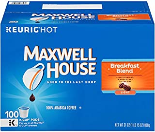 Maxwell House Breakfast Blend Coffee, K-CUP Pods,100 count