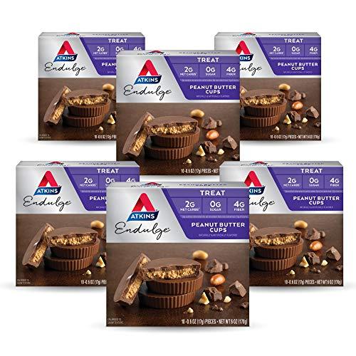 Atkins Endulge Treat Peanut Butter Cups. Rich Milk Chocolate & Creamy Peanut Butter. Keto-Friendly. (60 Pieces)