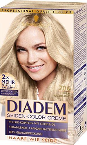 Schwarzkopf Diadem Seiden-Color-Creme, 706 Helles Aschblond Stufe 3, 3er Pack (3 x 180 ml)