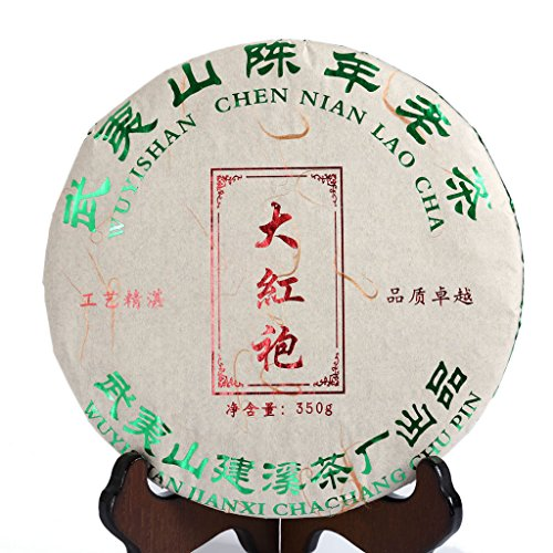 GOARTEA 350g (12.3 Oz) Supreme Aged Wu Yi Rock Da Hong Pao Big Red Robe Chinese Oolong Tea Cake