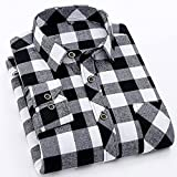 Camisa Cómoda Y De Moda Camisa De Cuadros Flannel Plaid Shirt Men Casual Long Sleeve High Cotton Fashion Male Shirt Chem