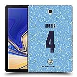 Head Case Designs Oficial Manchester City Man City FC Gemma Bonner 2020/21 Kit Hogar Mujer Grupo 1 Carcasa rígida Compatible con Galaxy Tab S4 10.5 (2018)