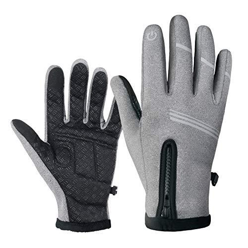 Winter Warme Handschuhe, wasserdichte Winddicht rutschfest Fahrradhandschuhe mit Blinker für Herren Damen,Touchscreen Rennrad MTB Handschuhe für Radfahren Wandern Klettern Outdoor Sport Schwarz