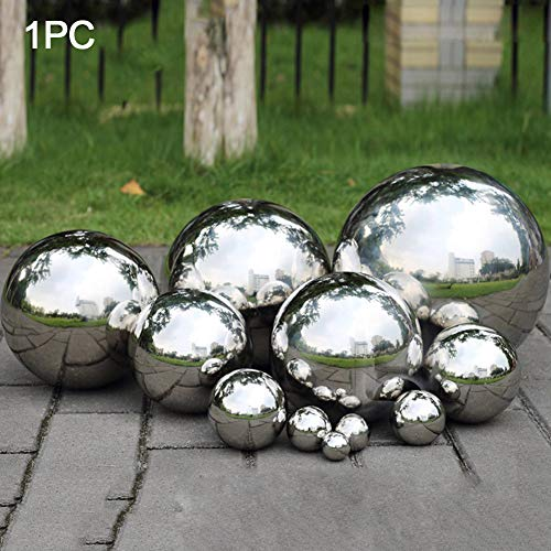Almabner Stainless Steel Gazing Ball,Sphere Hotel Dance Seamless Mirror Ball,Hollow Ball Reflective Sphere for Home Garden Party Ornament