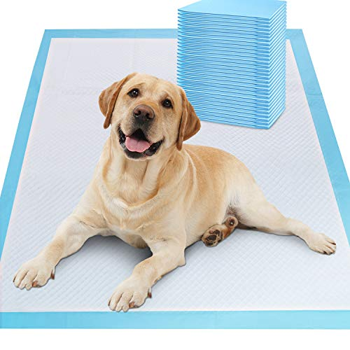 Gimars XL 28'x34' Thicker Heavy Absorbency Pet Training Puppy Pee Pads - Extra Large Disposable Polymer Quick Dry No Leaking Pee Pads for Dogs, Cats, Rabbits and Other House Training Pets, 30 count