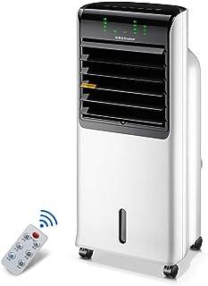 Virtper Aire acondicionado ventilador blanco gran volumen de aire humidificación ventilador de refrigeración control remoto móvil pequeño ventilador de refrigeración de agua 355 * 295 * 865mm -Pequeño