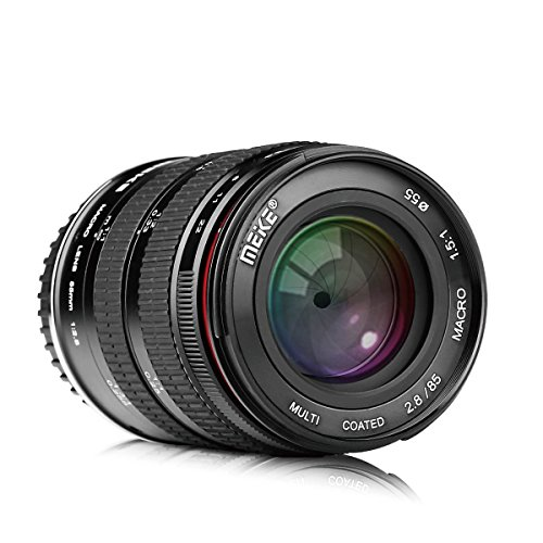 Meike 85mm F/2.8 Full Frame Manual Focus Medium Telephoto Fixed Prime Camera Lens 1.5:1 Ratio Macro Lens for Canon EOS EF Mount DSLR Cameras