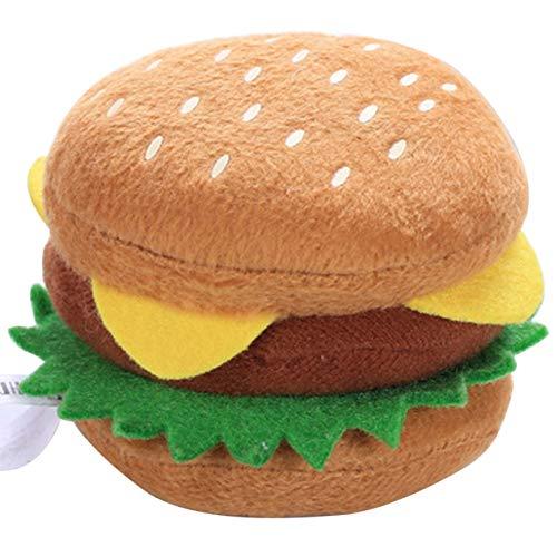 Hund Plüsch Vokalspielzeug Vielzahl von Lebensmitteln Pommes Frites Burger Hühnchen Beinform Spielzeug Haustierzubehör Haustier Katze Zubehör-Mehrfarbig BCVBFGCXVB