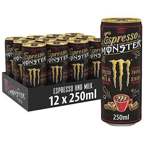 Espresso Monster Espresso & Milk, EINWEG, 12er Pack (12 x 250ml)
