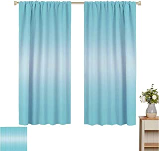 June Gissing Ombre Curtains Open Blue Sky on a Spring Day Inspired Blue Colored Modern Design Room Decorations Darkening Noise Reducing Backtab Window Panel W55 x L39 Turquoise