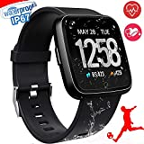 Smart Watch, Waterproof Multisport Fitness Trackers for Women Men, Smartwatches with Heart Rate Blood Pressure Sleep Monitor Pedometer, Wearable Smart Wristband