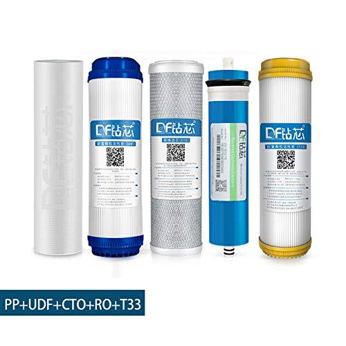 LZH FILTER Filtro de Agua Por Ósmosis Inversa con Membrana de 75 GPD RO para Sistemas de Filtración de Agua de Ósmosis Inversa,10