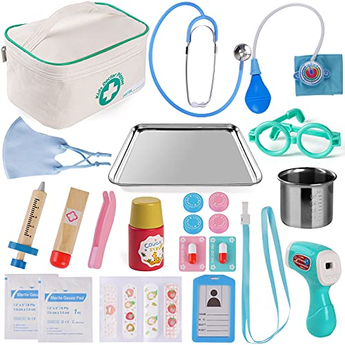 Tigerhu Doctor Kit for Kids, 27Pcs Pretend Play Educational Doctor...