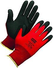 Honeywell Northflex Safety Gloves with Red Seamless Nylon Liner & Black PVC Coating, 15 gauge, X-Large (RWS-57020)