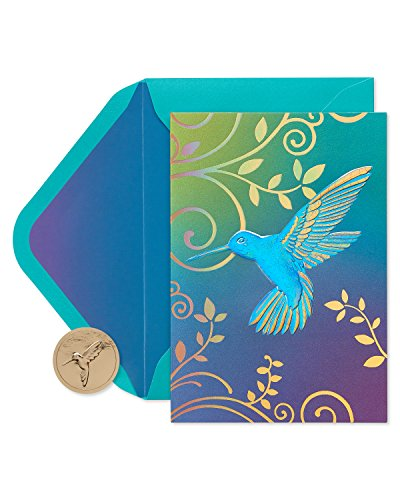 Papyrus Blank Cards with Envelopes, Hummingbird (12-Count)