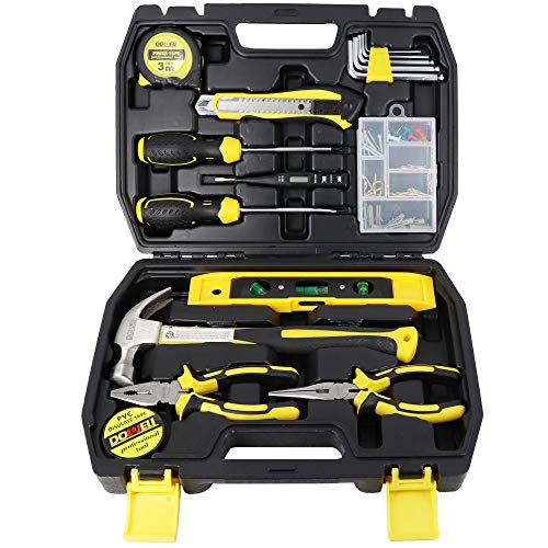 DOWELL Tool Kit Tool Set 116-Piece Household Tool Set Home Hand Tool Kit with Toolbox Storage Case HYT116