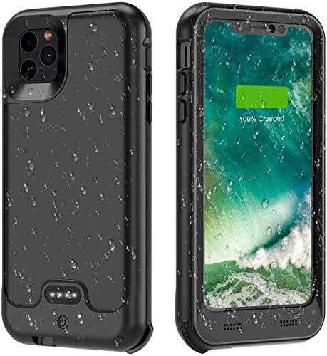 Funda de batería para iPhone 11 Pro, 3600 mAh, funda de carga portátil protectora de cuerpo completo para iPhone 11 Pro batería externa cubierta del teléfono 5.8 pulgadas - versión de actualización