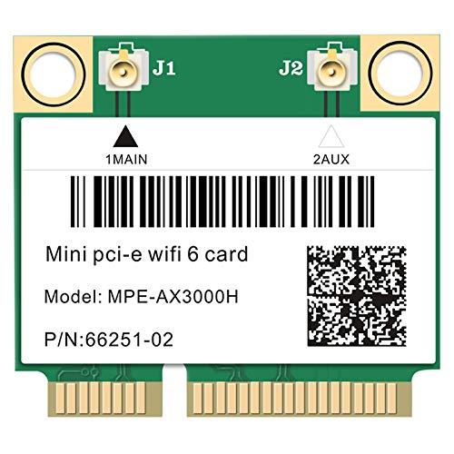 Didad 2974Mbps WiFi 6 PCI-E Tarjeta 2.4G / 5Ghz 5.0 Red InaláMbrica Tarjeta WLAN WiFi 802.11Ax / AC Windows 10 Laptop