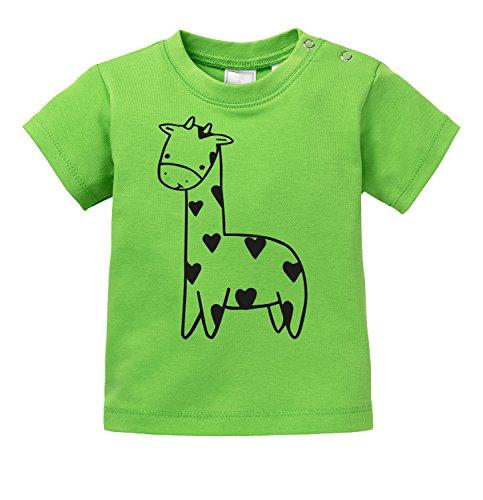 Süßes Giraffen Motiv - Bio Baby T-Shirt