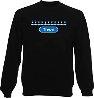 Sudadera por Hombre Negro WC1172 Macclesfield Town Table Football