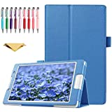 QYiD Funda para Lenovo 10 TB-X103F / Tab 2 A10-30 / Tab2 X30F, Slim PU Leather Cover with Auto...