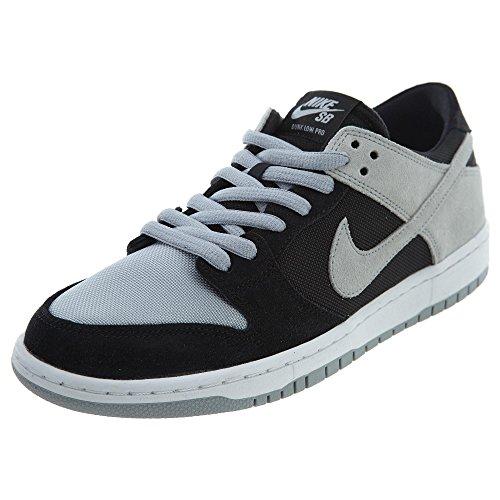 Nike SB Zoom Dunk Low PRO Mens Skateboarding-Shoes 854866-001_9.5 - Black/Wolf Grey-White-White