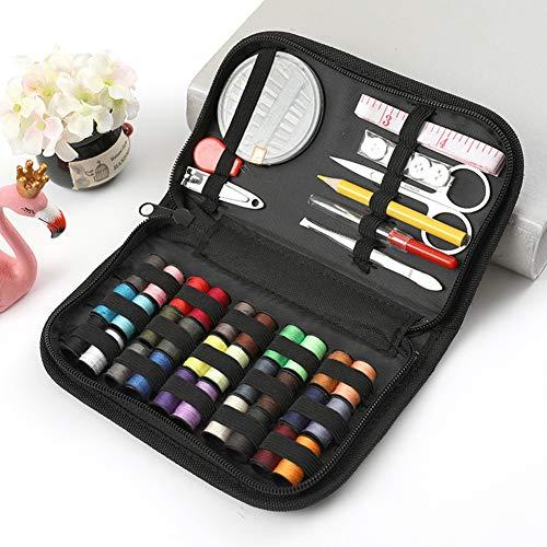 42-delige DIY Premium naaibenodigdheden Mini-naai-accessoires, waaronder 30 klosjes garen, naainaalden voor op reis, thuis, doe-het-zelf, beginners, noodgevallen, volwassenen, kinderen en kamperen