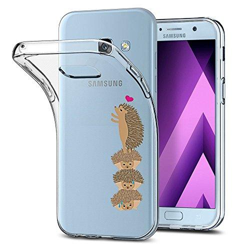 Galaxy A3 2017 Funda transparente Galaxy A3 2017 Carcasa silicona Panda conejo pingüino elefante suave fina TPU Cover silicona Bumper suave Clear Funda para Samsung Galaxy A3 2017
