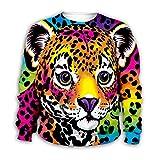 XOZDWE La impresión 3D con Capucha del Tigre de Dibujos Animados Los niños con Capucha de la Cremallera Escudo Pullover Camisa Kids Sweatshirts Kids Size S