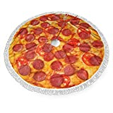 N\ A Christmas Tree Skirt,Pizza with Tomatoes and Pepperoni Xmas Tree Skirt for Party Holiday Decorations Xmas Ornaments 36'