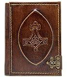 Excepcional cuaderno de piel |'Thor shammer' | Diario, páginas...