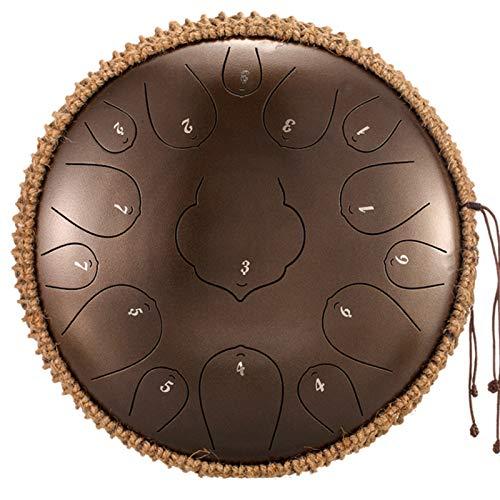 Schlaginstrument Lotus Handpan Drum für Meditation Yoga Zen | Standard 15 Noten 12 Zoll Schlaginstrument Stahl Tongue Drum | Lotu Handpan Stahlzungentrommel | mit Drum Mallets Bag