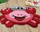 YANRUN Kit de alfombra de gancho, patrón de cangrejo rojo...