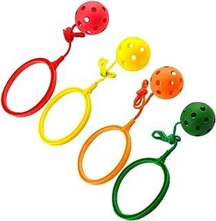 jojofuny Ensemble de boules de sport pour enfants, balle, balle de saut à la cheville, les enfants sautent le jouet de la ...