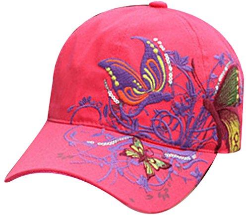 Belsen Gestickte Schmetterlings-Baseballmütze für Mädchen