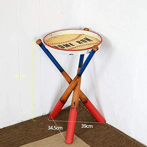 FHW Forma de Habitaciones Muebles Nostalgia de béisbol del palillo de la Tabla Plegable Sofá Sofá Tabla Mesa Lateral teléfono Unos Mesa de Niños Mesa de café (Color : Red)