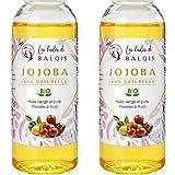 Huile de Jojoba oil 100% bio naturelle pressée à froid 2x50ML pure et naturelle...