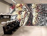 Papel Pintado Fotográfico 250x175 cm - 5 tiras Indios abstractos Tipo Fleece no-trenzado XXL Salón Dormitorio Despacho Pasillo Decoración murales decoración de paredes moderna