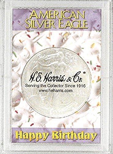 Harris 2x3 Happy Birthday Holder- Silber EAGLES by H.E. Harris by H.E. Harris